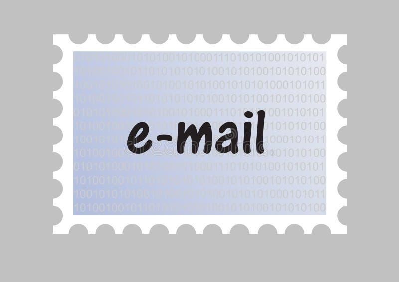 γραμματόσημο ηλεκτρονικού ταχυδρομείου απεικόνιση αποθεμάτων