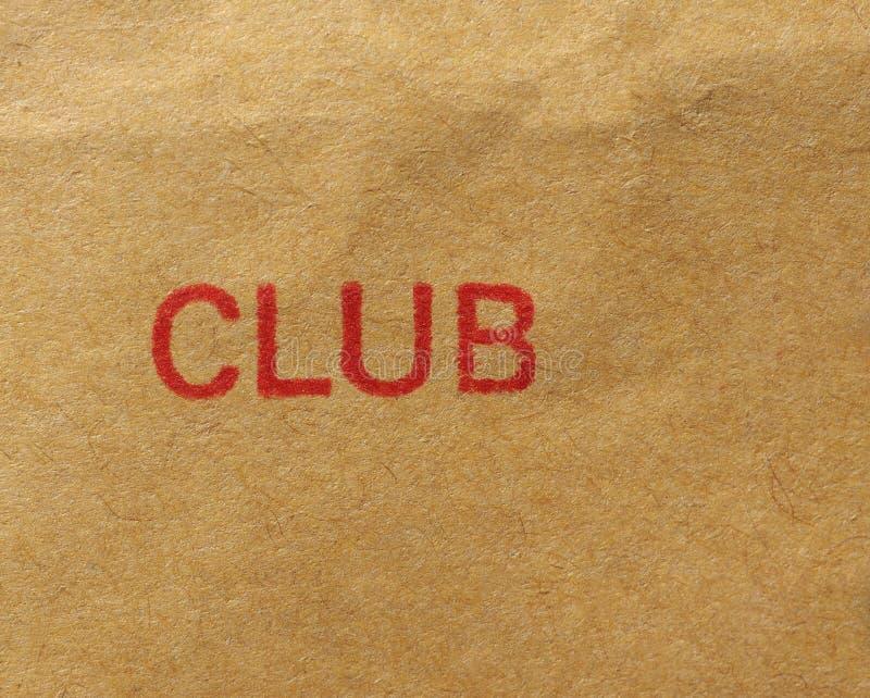 Γραμματόσημο λεσχών πέρα από το έγγραφο στοκ φωτογραφία με δικαίωμα ελεύθερης χρήσης
