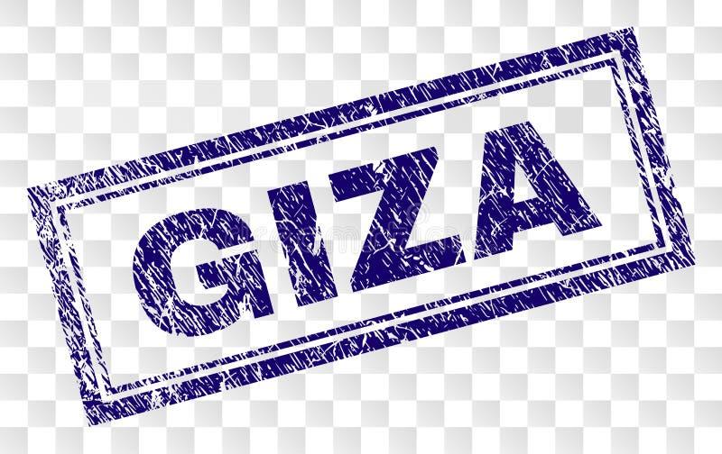 Γραμματόσημο ορθογωνίων Grunge GIZA απεικόνιση αποθεμάτων