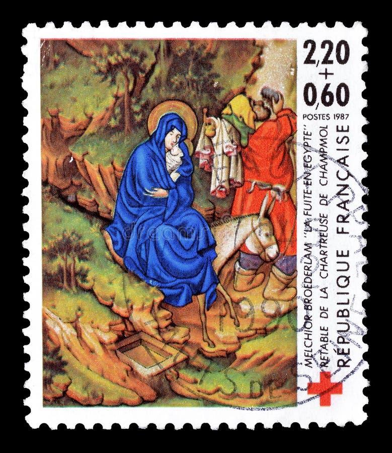 Γραμματόσημο που τυπώνεται από τη Γαλλία στοκ εικόνα με δικαίωμα ελεύθερης χρήσης