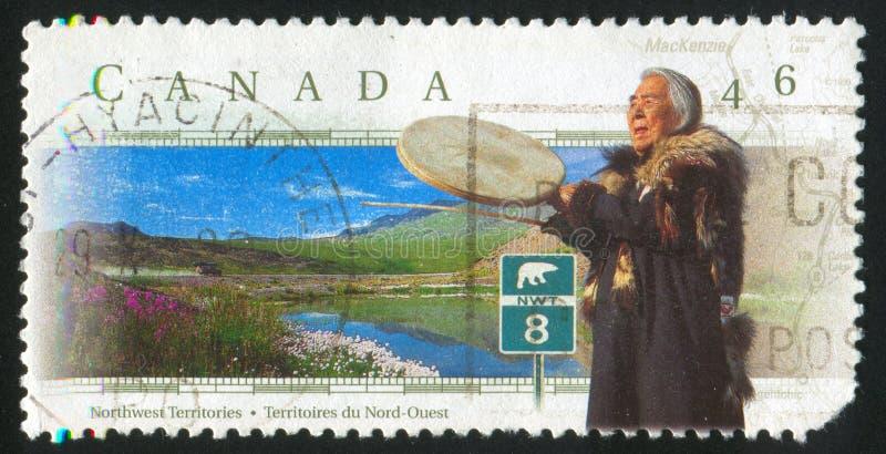 γραμματόσημο που τυπώνεται από τον Καναδά στοκ εικόνες με δικαίωμα ελεύθερης χρήσης