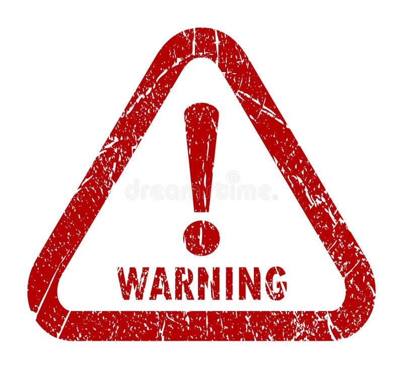 Γραμματόσημο προειδοποίησης διανυσματική απεικόνιση