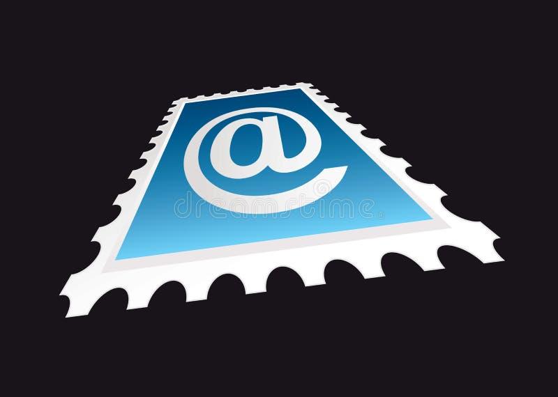 γραμματόσημο προοπτικής η ελεύθερη απεικόνιση δικαιώματος