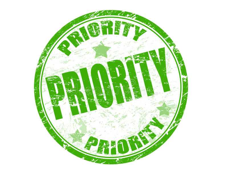 γραμματόσημο προτεραιότη&ta διανυσματική απεικόνιση