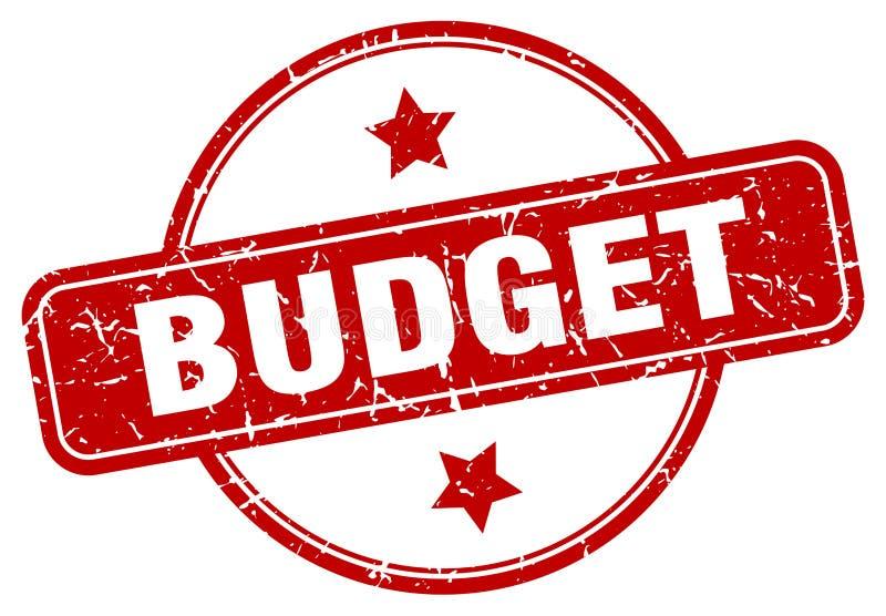 γραμματόσημο προϋπολογισμών διανυσματική απεικόνιση