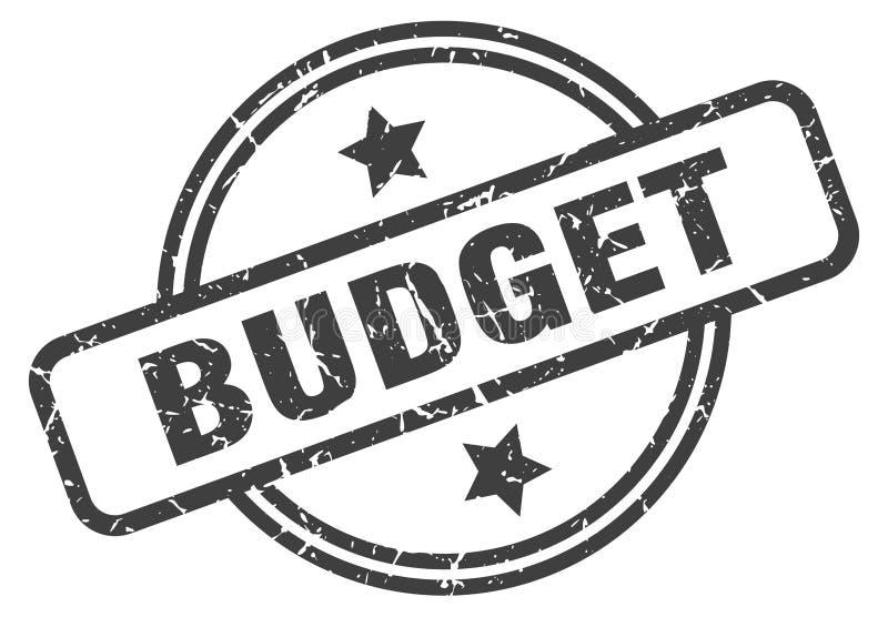 γραμματόσημο προϋπολογισμών απεικόνιση αποθεμάτων