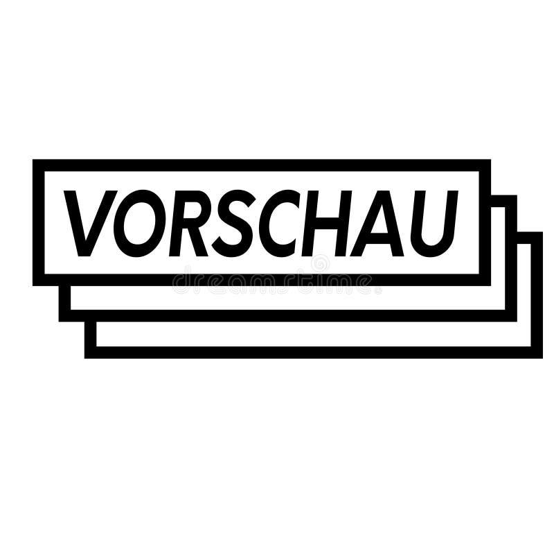 Γραμματόσημο πρόβλεψης στο λευκό διανυσματική απεικόνιση