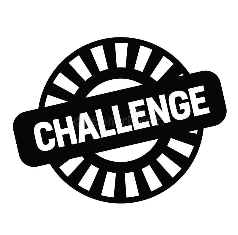 Γραμματόσημο πρόκλησης στο λευκό ελεύθερη απεικόνιση δικαιώματος
