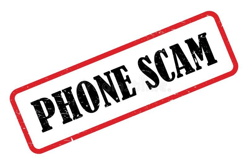 Γραμματόσημο τηλεφωνικής απάτης ελεύθερη απεικόνιση δικαιώματος