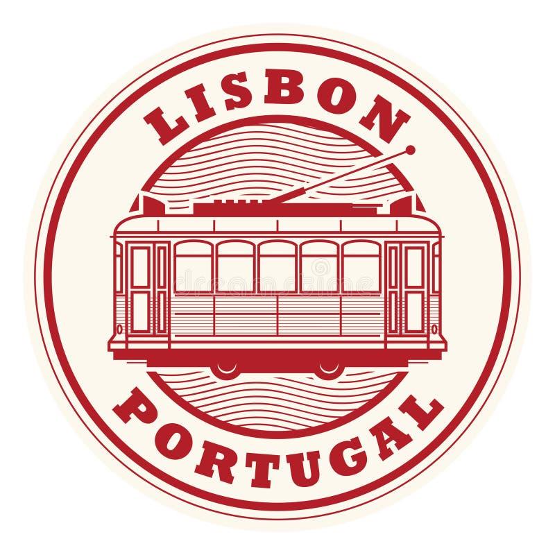 Γραμματόσημο της Λισσαβώνας, Πορτογαλία διανυσματική απεικόνιση