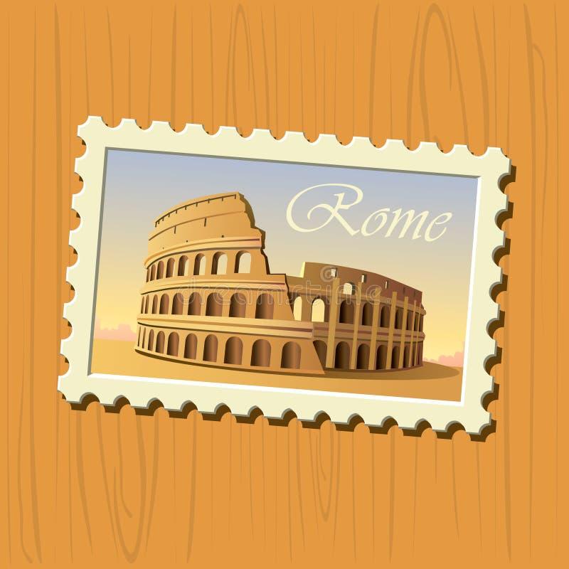 γραμματόσημο της Ρώμης colosseum ελεύθερη απεικόνιση δικαιώματος
