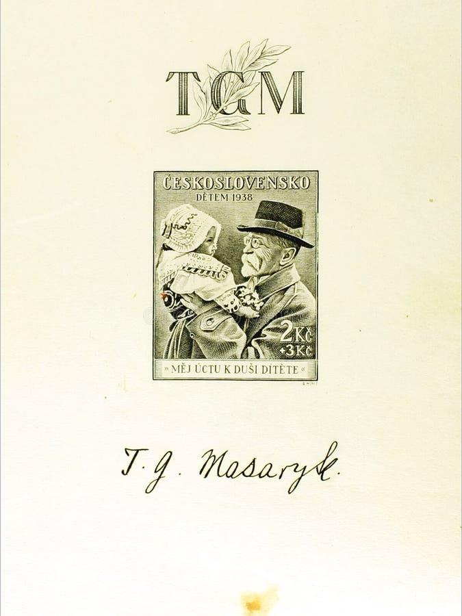 Γραμματόσημο της Τσεχοσλοβακίας στοκ εικόνες