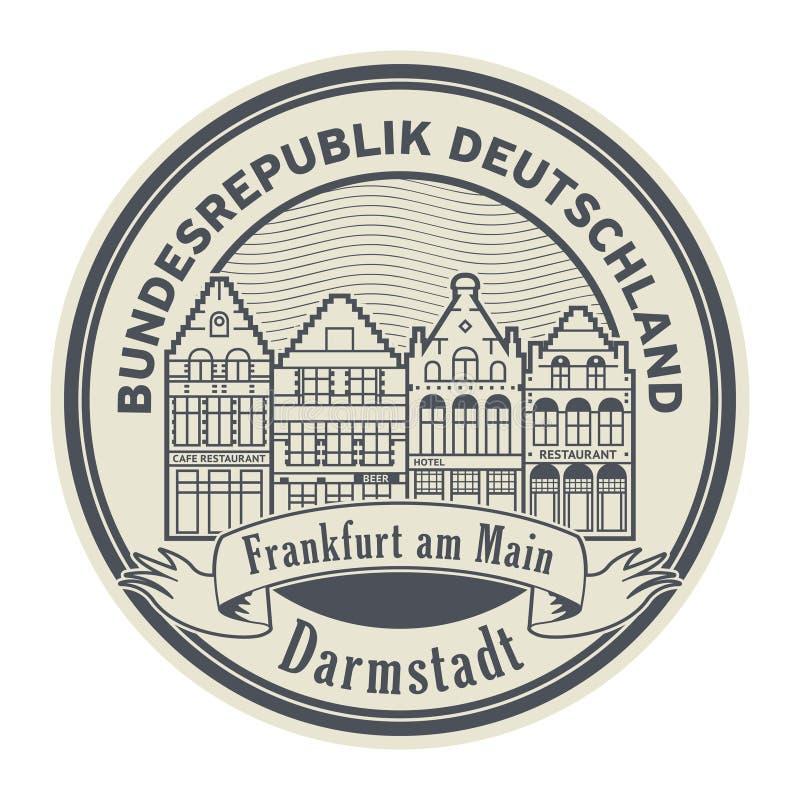 Γραμματόσημο της Φρανκφούρτης Αμ Μάιν, Γερμανία απεικόνιση αποθεμάτων