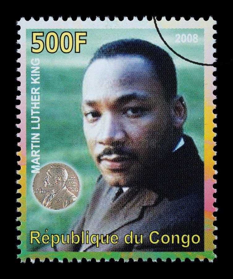 Γραμματόσημο του Martin Luther King στοκ εικόνες