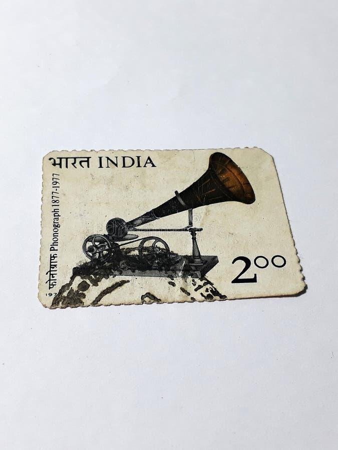 Γραμματόσημο φωνογράφων στοκ εικόνες