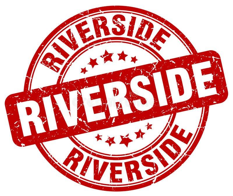 Γραμματόσημο όχθεων ποταμού διανυσματική απεικόνιση