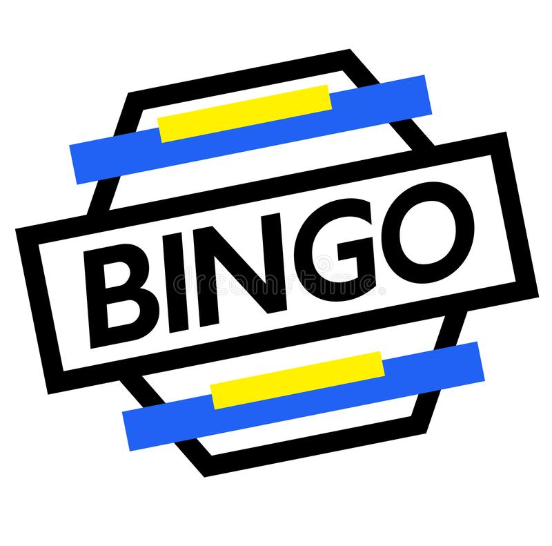 Γραμματόσημο BINGO στο λευκό διανυσματική απεικόνιση