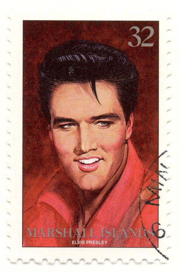 γραμματόσημο presley elvis στοκ φωτογραφία