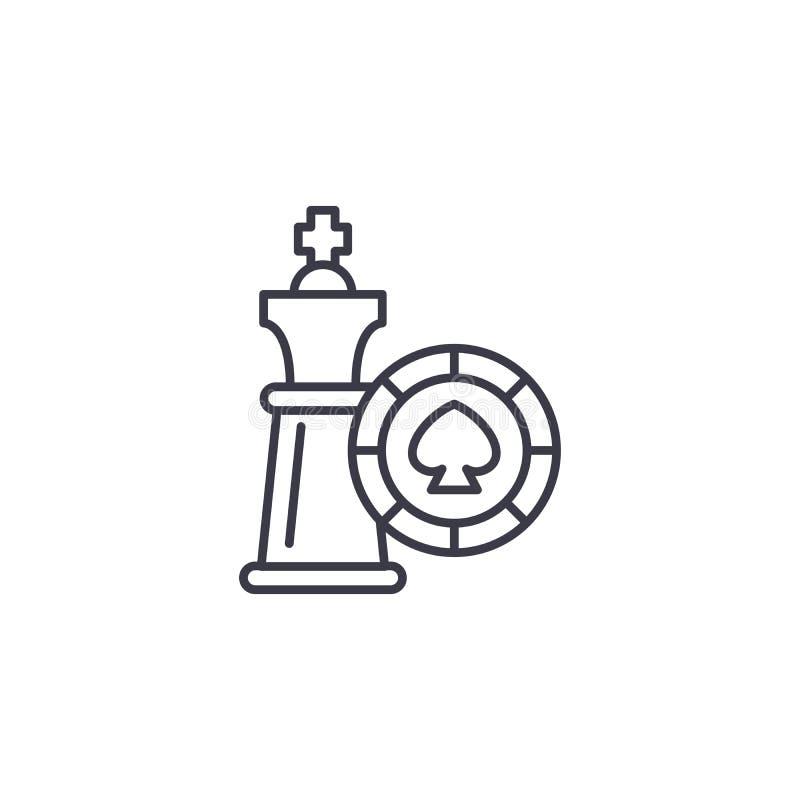 Γραμμική έννοια εικονιδίων στρατηγικής παιχνιδιών Διανυσματικό σημάδι γραμμών στρατηγικής παιχνιδιών, σύμβολο, απεικόνιση απεικόνιση αποθεμάτων