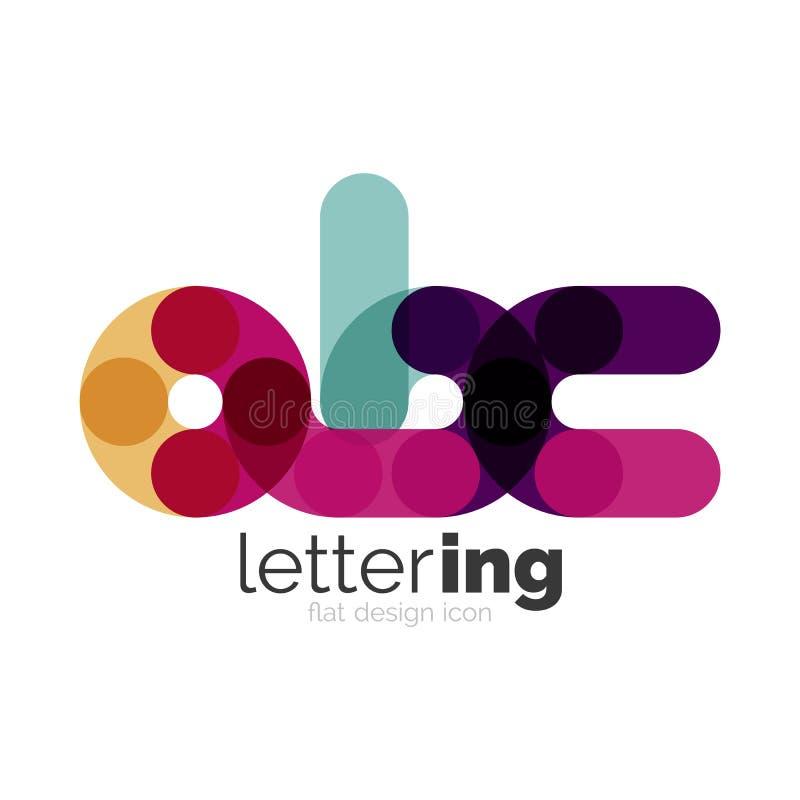 Γραμμική επιστολή επιχειρησιακών λογότυπων διανυσματική απεικόνιση