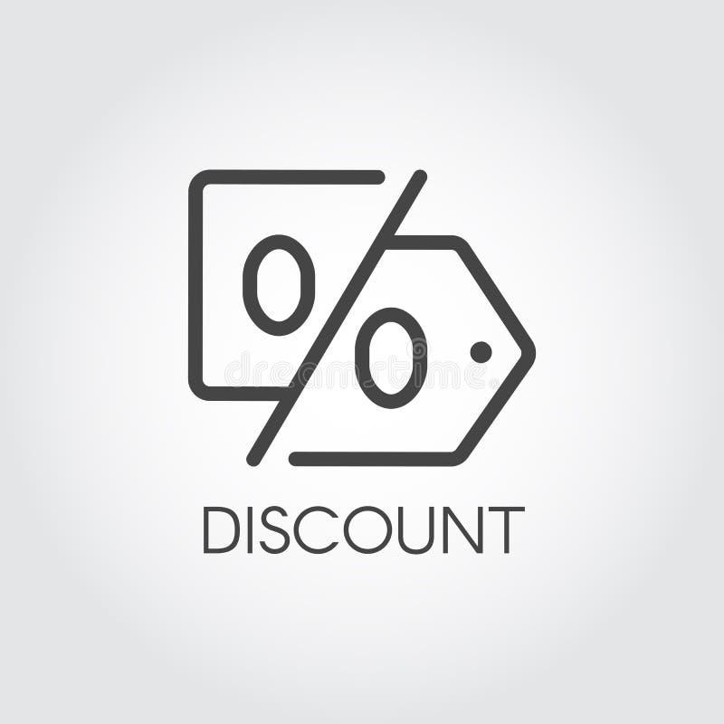 Γραμμικό εικονίδιο έκπτωσης Ετικέτα περιλήψεων της τιμής και των τοις εκατό Σύμβολο προώθησης, μάρκετινγκ και διαφήμισης διάνυσμα ελεύθερη απεικόνιση δικαιώματος