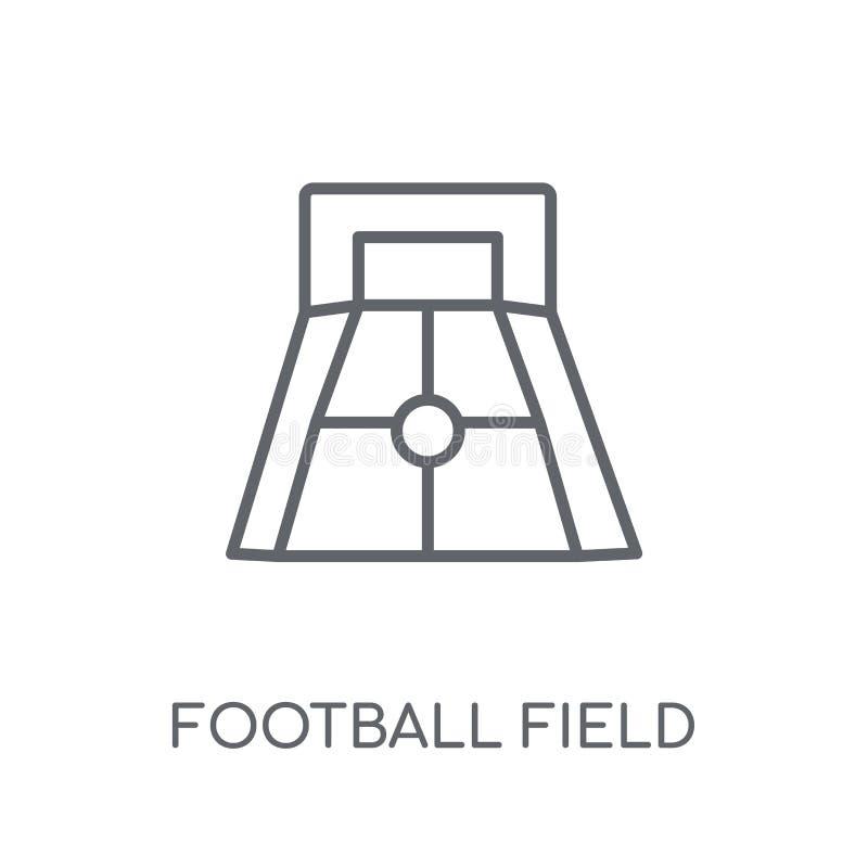 Γραμμικό εικονίδιο αγωνιστικών χώρων ποδοσφαίρου Σύγχρονο λογότυπο γ αγωνιστικών χώρων ποδοσφαίρου περιλήψεων διανυσματική απεικόνιση