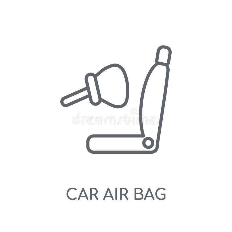 γραμμικό εικονίδιο αερόσακων αυτοκινήτων Σύγχρονη έννοια λογότυπων αερόσακων αυτοκινήτων περιλήψεων ελεύθερη απεικόνιση δικαιώματος