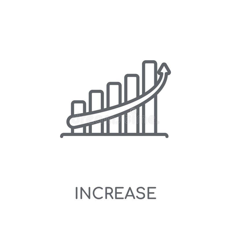 Γραμμικό εικονίδιο αύξησης Σύγχρονη έννοια λογότυπων αύξησης περιλήψεων στο wh διανυσματική απεικόνιση