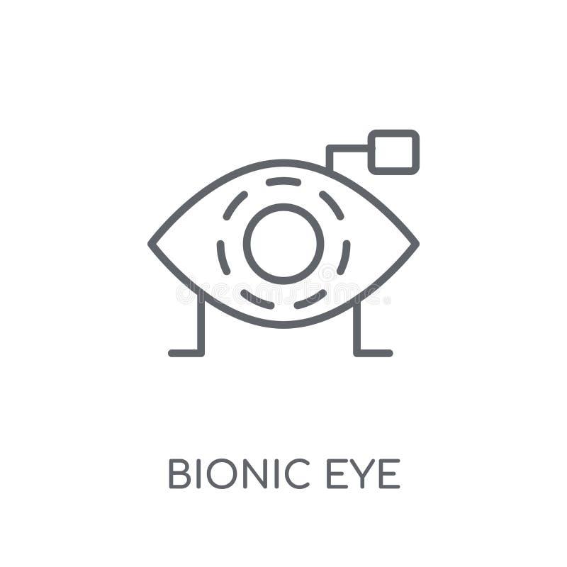 Γραμμικό εικονίδιο βιονικών ματιών Σύγχρονη έννοια ο λογότυπων ματιών περιλήψεων βιονική απεικόνιση αποθεμάτων