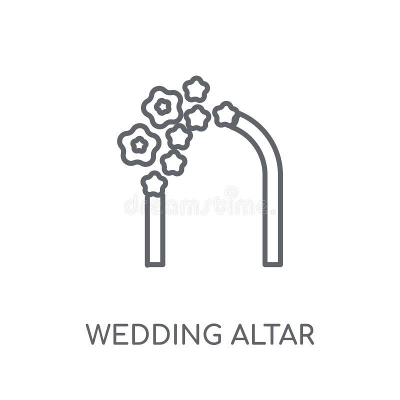 γραμμικό εικονίδιο γαμήλιων βωμών Σύγχρονο λογότυπο γαμήλιων βωμών περιλήψεων con ελεύθερη απεικόνιση δικαιώματος