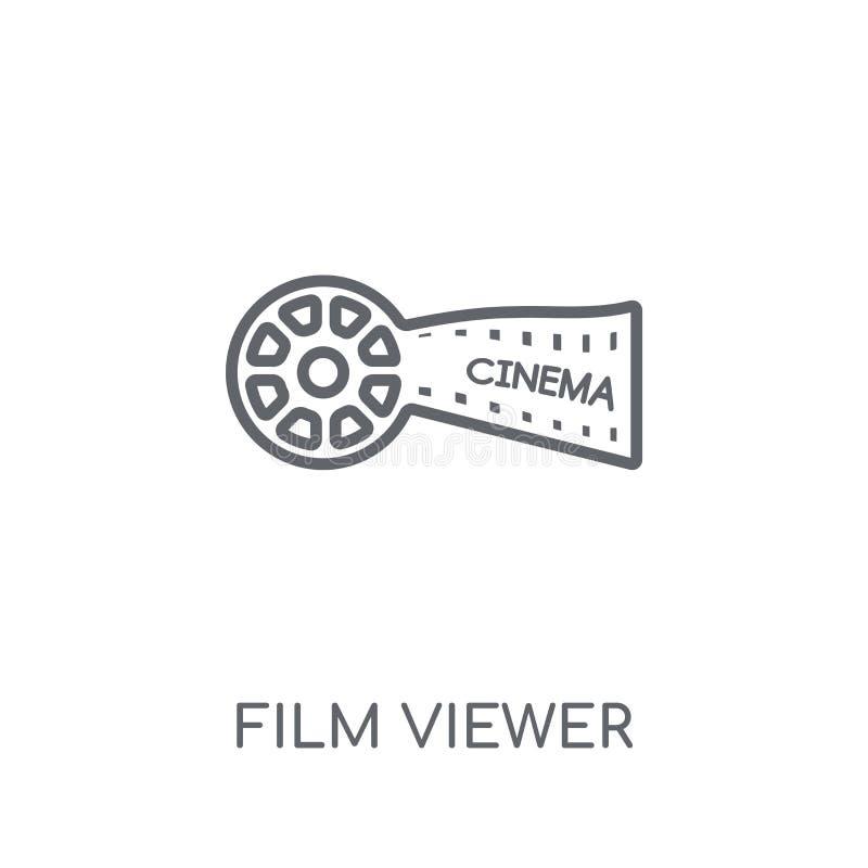 Γραμμικό εικονίδιο θεατών ταινιών Σύγχρονη έννοια λογότυπων θεατών ταινιών περιλήψεων διανυσματική απεικόνιση