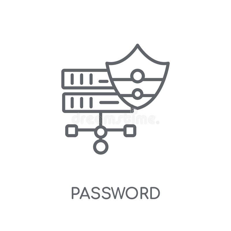 Γραμμικό εικονίδιο κωδικού πρόσβασης Σύγχρονη έννοια λογότυπων κωδικού πρόσβασης περιλήψεων στο wh ελεύθερη απεικόνιση δικαιώματος
