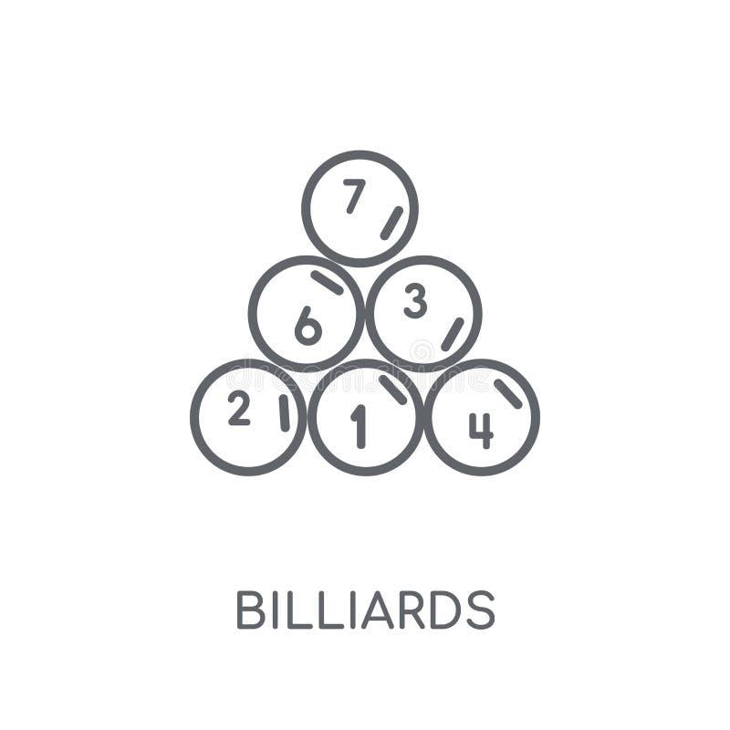 Γραμμικό εικονίδιο μπιλιάρδου Σύγχρονη έννοια λογότυπων μπιλιάρδου περιλήψεων επάνω απεικόνιση αποθεμάτων