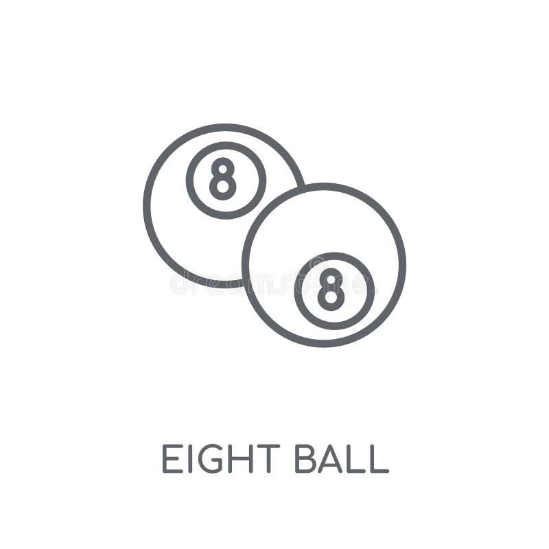 Γραμμικό εικονίδιο οκτώ σφαιρών Σύγχρονη περίληψη οκτώ έννοια ο λογότυπων σφαιρών απεικόνιση αποθεμάτων