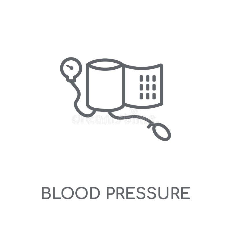 Γραμμικό εικονίδιο πίεσης του αίματος Σύγχρονο λογότυπο γ πίεσης του αίματος περιλήψεων απεικόνιση αποθεμάτων