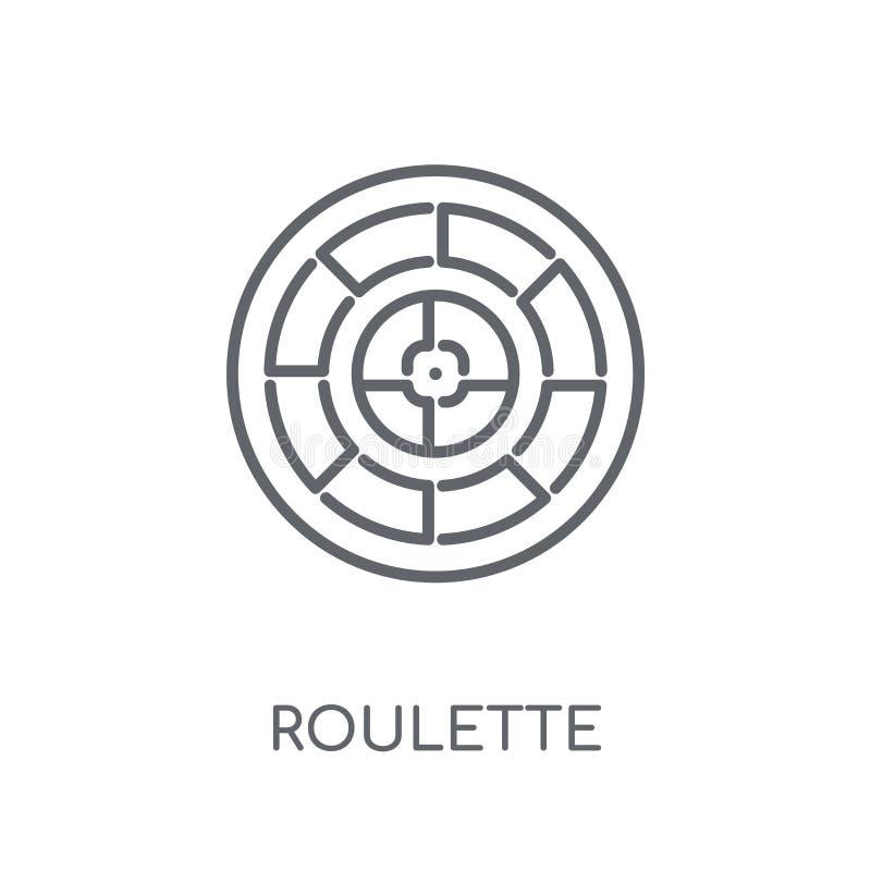 Γραμμικό εικονίδιο ρουλετών Σύγχρονη έννοια λογότυπων ρουλετών περιλήψεων στο wh ελεύθερη απεικόνιση δικαιώματος
