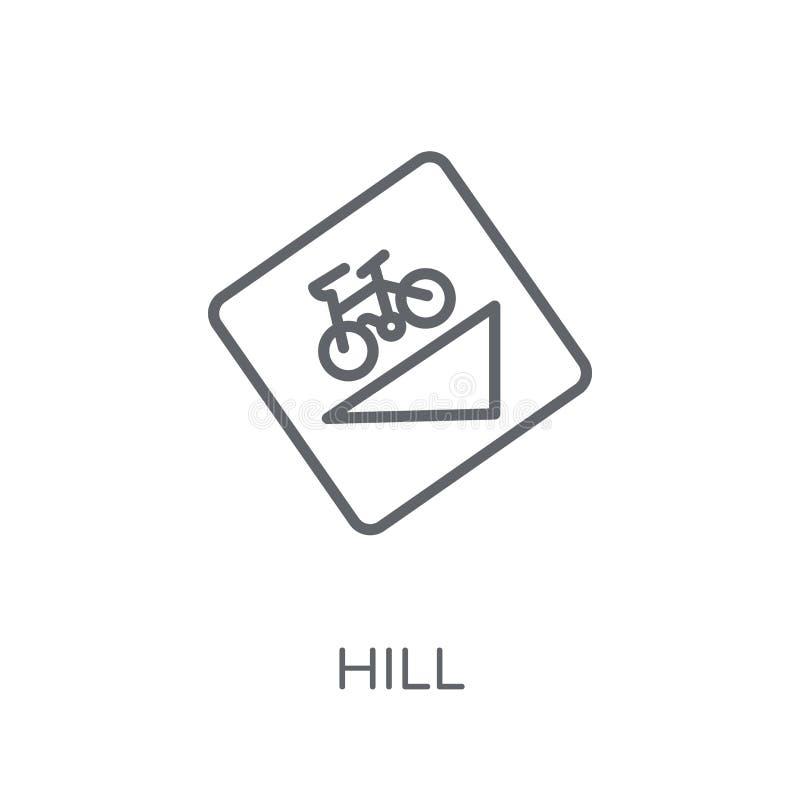 Γραμμικό εικονίδιο σημαδιών Hill Σύγχρονη έννοια λογότυπων σημαδιών Hill περιλήψεων επάνω ελεύθερη απεικόνιση δικαιώματος