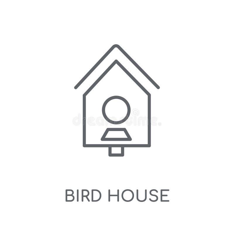 Γραμμικό εικονίδιο σπιτιών πουλιών Σύγχρονη έννοια ο λογότυπων σπιτιών πουλιών περιλήψεων απεικόνιση αποθεμάτων