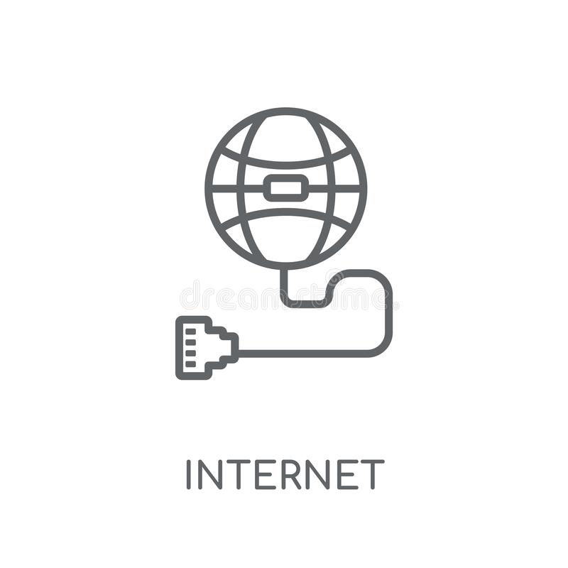 Γραμμικό εικονίδιο σύνδεσης στο Διαδίκτυο Η σύγχρονη περίληψη Διαδίκτυο συνδέει διανυσματική απεικόνιση