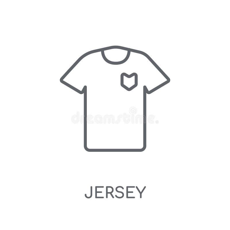 Γραμμικό εικονίδιο του Τζέρσεϋ Σύγχρονη έννοια λογότυπων του Τζέρσεϋ περιλήψεων στο λευκό ελεύθερη απεικόνιση δικαιώματος