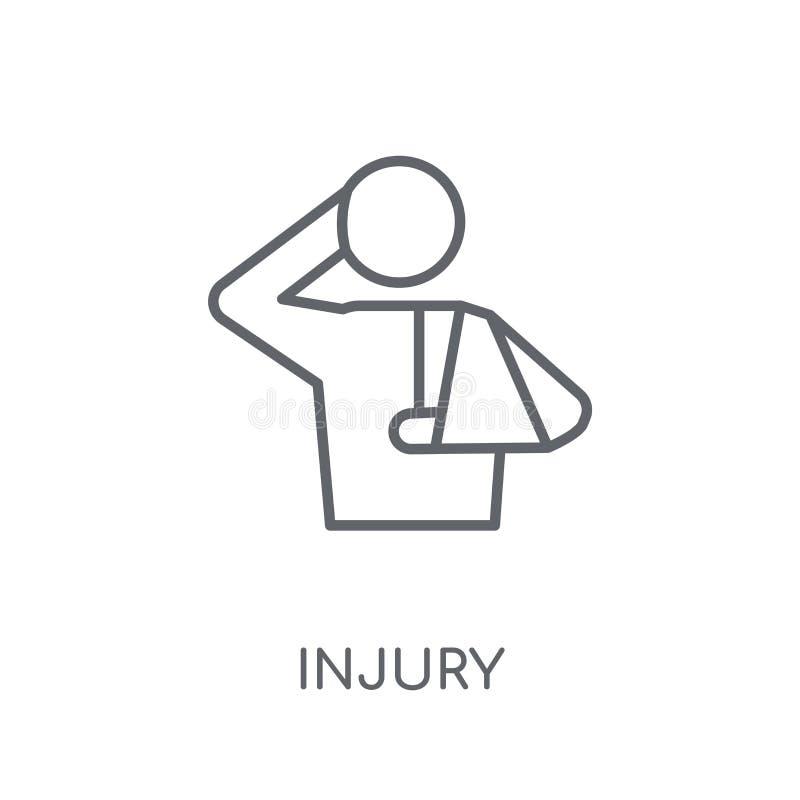 Γραμμικό εικονίδιο τραυματισμών Σύγχρονη έννοια λογότυπων τραυματισμών περιλήψεων στο λευκό ελεύθερη απεικόνιση δικαιώματος