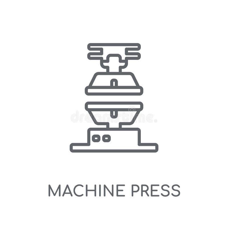 Γραμμικό εικονίδιο Τύπου μηχανών Σύγχρονο λογότυπο Τύπου μηχανών περιλήψεων con διανυσματική απεικόνιση