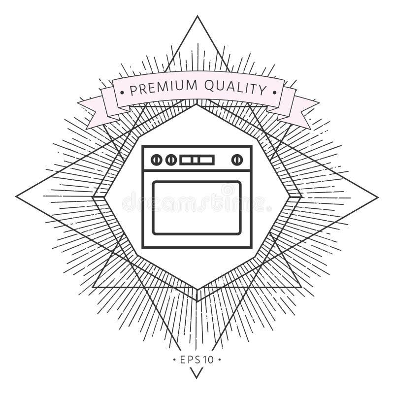 Γραμμικό εικονίδιο φούρνων απεικόνιση αποθεμάτων