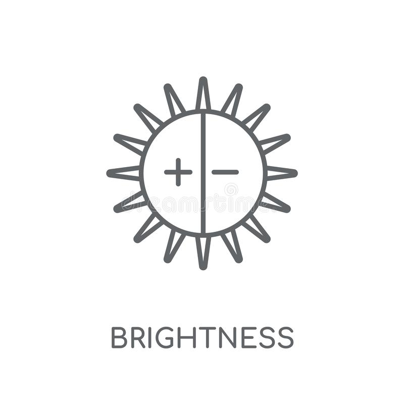 Γραμμικό εικονίδιο φωτεινότητας Σύγχρονη έννοια ο λογότυπων φωτεινότητας περιλήψεων διανυσματική απεικόνιση