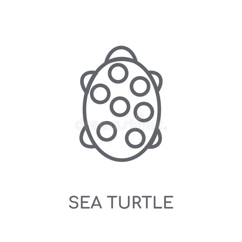Γραμμικό εικονίδιο χελωνών θάλασσας Σύγχρονη έννοια ο λογότυπων χελωνών θάλασσας περιλήψεων διανυσματική απεικόνιση