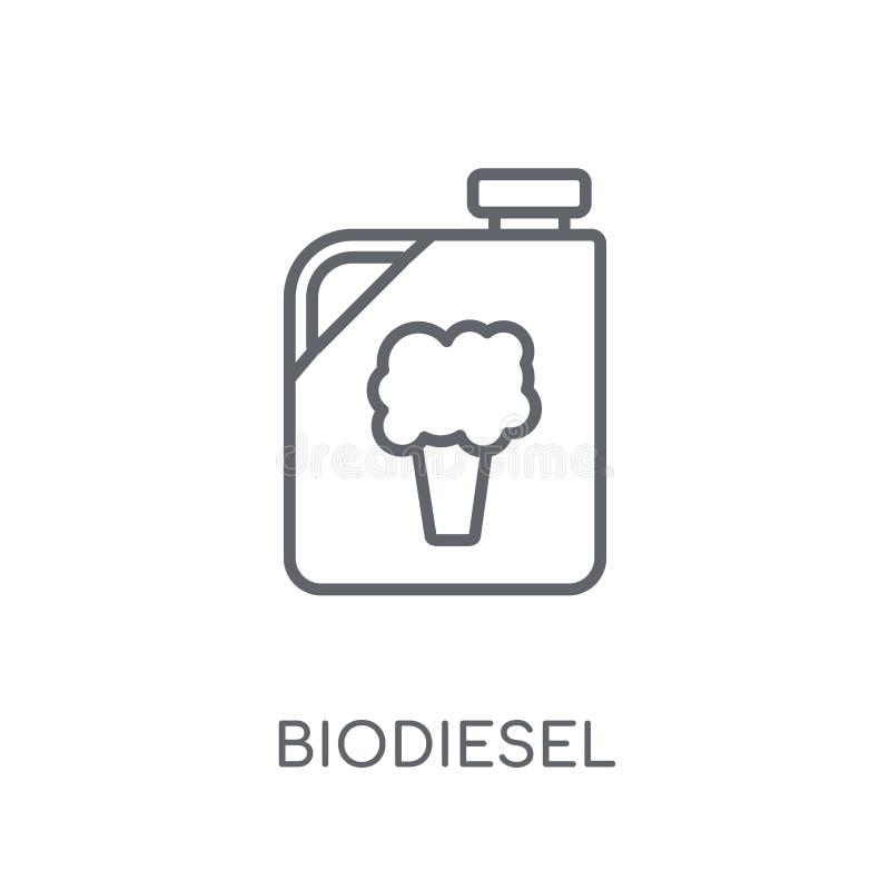 Γραμμικό εικονίδιο biodiesel Σύγχρονη έννοια λογότυπων biodiesel περιλήψεων επάνω ελεύθερη απεικόνιση δικαιώματος