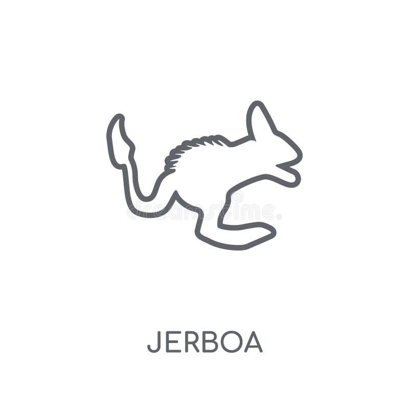 Γραμμικό εικονίδιο Jerboa Σύγχρονη έννοια λογότυπων Jerboa περιλήψεων στο λευκό απεικόνιση αποθεμάτων