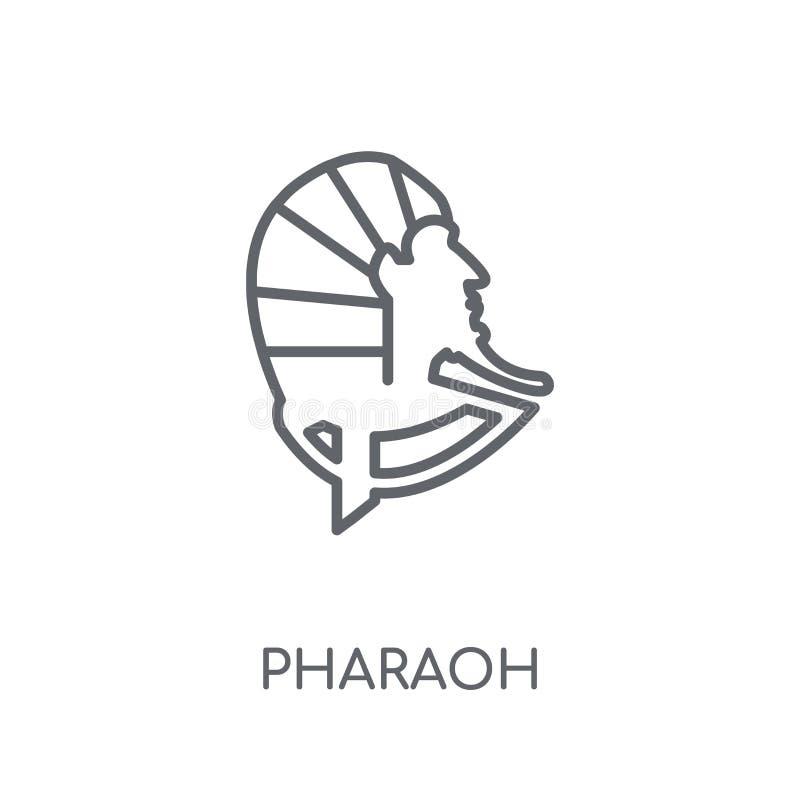 Γραμμικό εικονίδιο Pharaoh Σύγχρονη έννοια λογότυπων Pharaoh περιλήψεων στο μόριο διανυσματική απεικόνιση