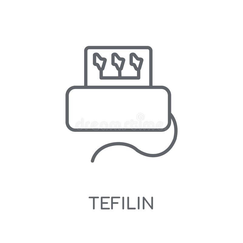 Γραμμικό εικονίδιο Tefilin Σύγχρονη έννοια λογότυπων Tefilin περιλήψεων στο μόριο ελεύθερη απεικόνιση δικαιώματος