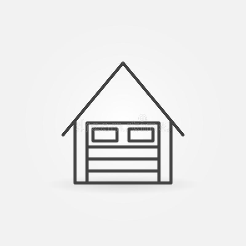 Γραμμικό εικονίδιο γκαράζ ελεύθερη απεικόνιση δικαιώματος